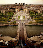 Взгляд Парижа грандиозный Стоковое Изображение RF
