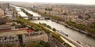 Взгляд Парижа западный Стоковое Изображение RF
