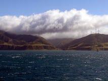 Взгляд парома к северному острову Новой Зеландии Стоковое фото RF