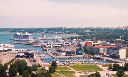 Взгляд пассажирского терминала d морского порта Таллина Стоковые Изображения RF