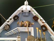 Взгляд палубы фронта кораблей сверху Стоковая Фотография