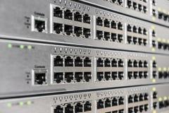 взгляд переключателя сети dof крупного плана отмелый Стоковые Изображения RF