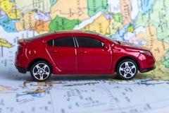 взгляд перемещения игрушки карты автомобиля автомобиля схематический Стоковые Изображения