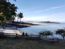 Взгляд песка пляжа океана Стоковые Фото