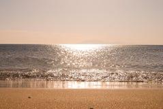 Взгляд песчаного пляжа Стоковая Фотография