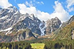 Взгляд пика Mangarts, Словения Стоковая Фотография RF