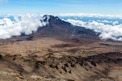 Взгляд пика Mawenzi от Mount Kilimanjaro Стоковые Фото