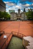 Взгляд пионерского квадрата здания суда, в Портленде, Стоковая Фотография RF