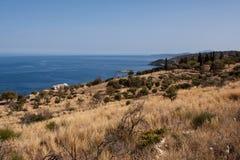 Взгляд побережья - остров Закинфа Стоковые Фото