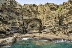 Взгляд побережья Yongmeori в острове Jeju Стоковые Фотографии RF