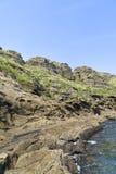 Взгляд побережья Yongmeori в острове Jeju Стоковые Изображения RF