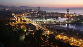 Взгляд порта Барселоны видеоматериал