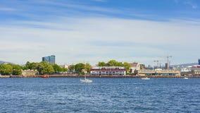 Взгляд порта в городе Осло Стоковые Фото