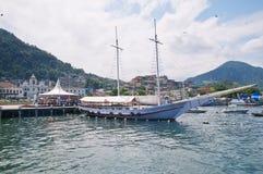 Порт в dos Reis Angra. Рио-де-Жанейро Стоковое Изображение