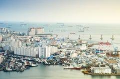 Взгляд порта Пусана Стоковое Фото