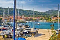 Взгляд портового района острова iz Veli Стоковое Изображение RF