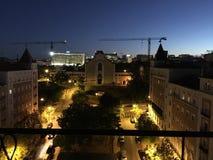 Взгляд Португалия ночи Лиссабона Лиссабона стоковое фото rf