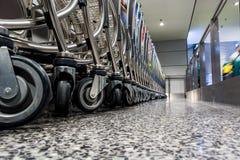 Взгляд пола вагонеток авиапорта Стоковая Фотография