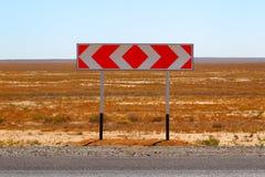 взгляд подкраской дорожного знака угла голубой широко вилка отборный путь Стоковая Фотография RF
