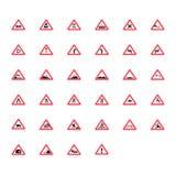 взгляд подкраской дорожного знака угла голубой широко знаки для предпринимателей автомобилей Стоковое Фото