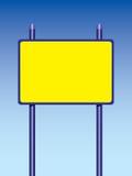 взгляд подкраской дорожного знака угла голубой широко Стоковое Изображение