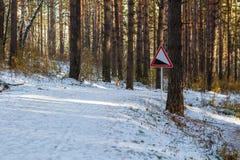 взгляд подкраской дорожного знака угла голубой широко Стоковое Фото