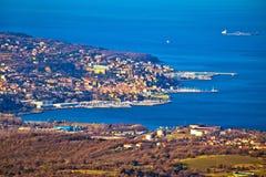 Взгляд прибрежных городов Kopar и Izola Стоковое Фото