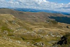 Взгляд прикарпатских гор Стоковые Изображения