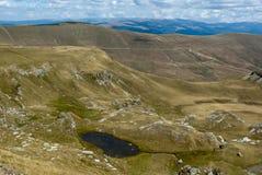 Взгляд прикарпатских гор Стоковое Изображение RF