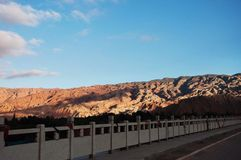Взгляд природы горы и голубого неба Стоковая Фотография RF