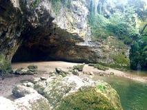 Взгляд природы Швейцарии водопадов славный стоковое изображение rf