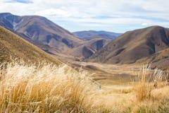 Взгляд пропуска Lindis, Новая Зеландия Стоковые Фотографии RF