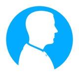 Взгляд профиля силуэта человека Стоковое Фото