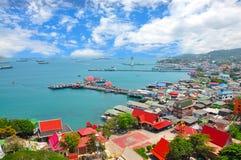 Взгляд пункта на острове Si Chang Стоковая Фотография RF