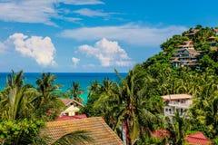 Взгляд пункта Diniwid, острова Boracay, Филиппин Стоковое Изображение RF