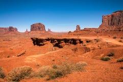 Взгляд пункта John Ford на долине памятника, парке Навахо племенном, Ut стоковые изображения