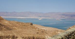 Взгляд пустыни и мертвого моря от Masada, Израиля Стоковое Изображение