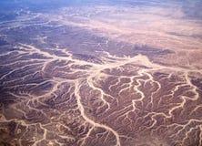 Взгляд пустыни от самолета Стоковая Фотография