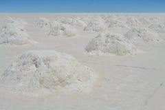 Взгляд пустыни соли в Боливии Стоковые Изображения