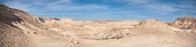 Взгляд пустыня Негев панорамный Стоковое Изображение RF
