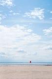 Взгляд пляжа Атлантического океана Стоковое Фото