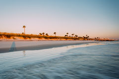 Взгляд пляжа в побережье ладони, Флориде Стоковое Фото