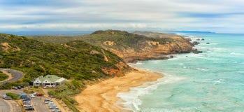 Взгляд пляжа задней части Сорренто от бдительности Coppins Стоковые Изображения RF
