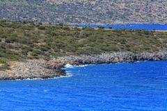 Взгляд пляжа на острове Крита Греция Стоковое Изображение RF
