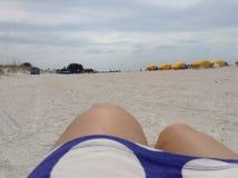 Взгляд пляжа океана Стоковое фото RF