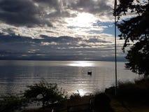 Взгляд пляжа океана Стоковые Изображения RF