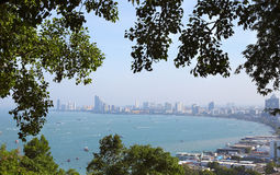 Взгляд пляжа Паттайя Таиланд Стоковые Фотографии RF