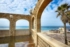 Взгляд пляжа Средиземного моря Стоковое Изображение