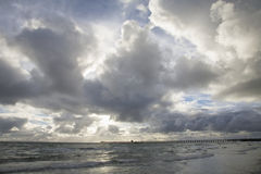 Взгляд пляжа Стоковое Изображение RF