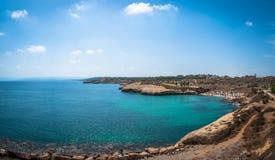 Взгляд пляжа balai стоковое изображение